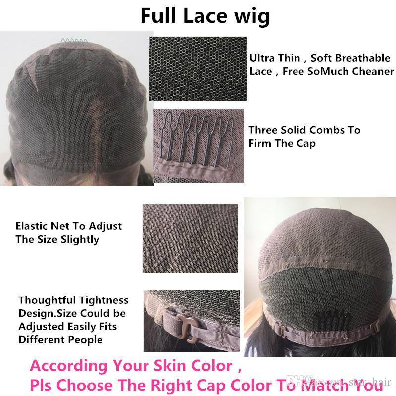 Full Lace wigs Wavy top Quality Brazilian Hair Wholesale Price Medium Brown Full Lace Wig Pre Plucked Lace Front Wigs With Baby Hair