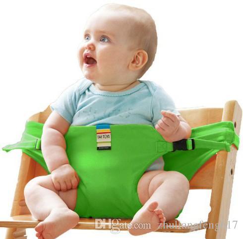 La sedia portatile del bambino della cinghia della sedia da pranzo dei bambini del sedile del bambino multicolore, 2016 NUOVO bambino mangia la cintura di sicurezza portatile della sedia