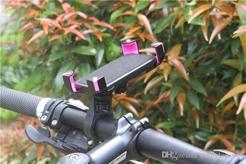 Anti-Slip Universal 360 Rotating Bicycle Bike Phone Holder Handlebar Clip Stand Mount Bracket For Smart Mobile Cellphone