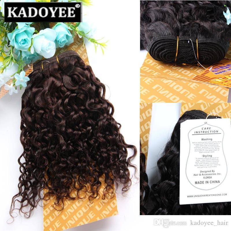 straight jerry curly human hair bundles brazilian hair pack 8-14inch 1b 2 black brown color wholesale price no shedding no tangle