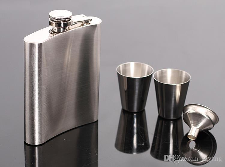 7 oz fiaschetta in acciaio inox set jack flagon con tazze imbuto vino whisky fiaschetta flagon bottiglia portatile confezione regalo imballaggio