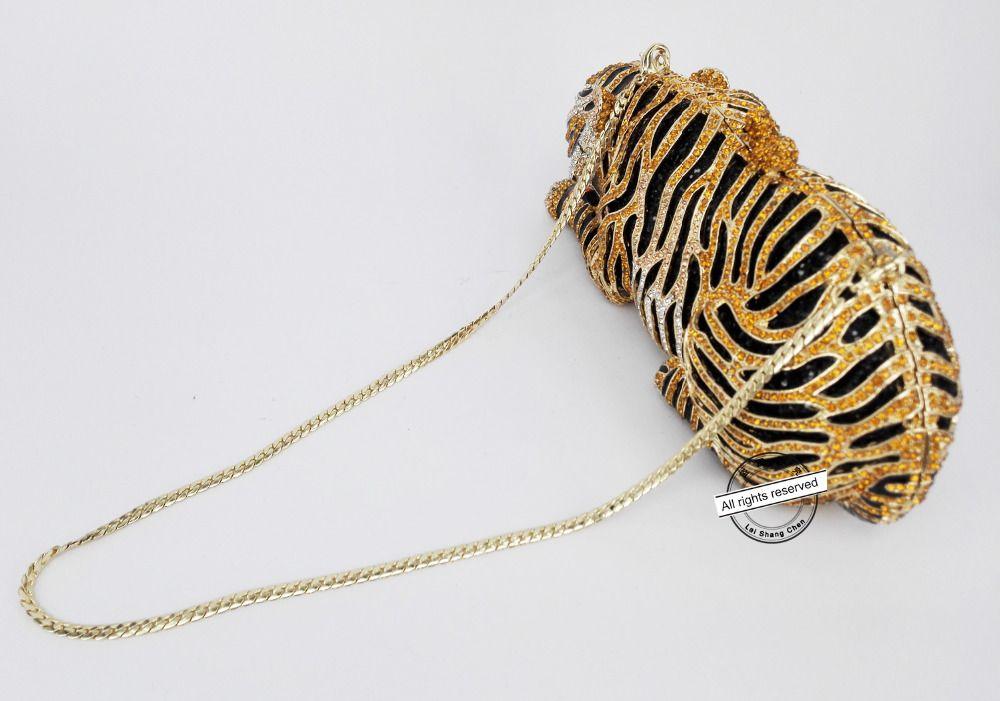 Animal Tiger Luxury Crystal Evening Bag Leopard Cocktail Party Purse Handbags Women Clutch bags Purse SC030