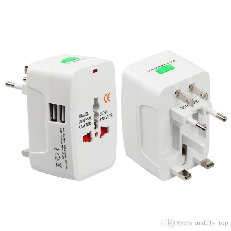 Путешествия универсального адаптера питания зарядного устройства для вилки Surge Protector Универсальной International Travel адаптер питание подключи США Великобритании ЕС AU AC Plug