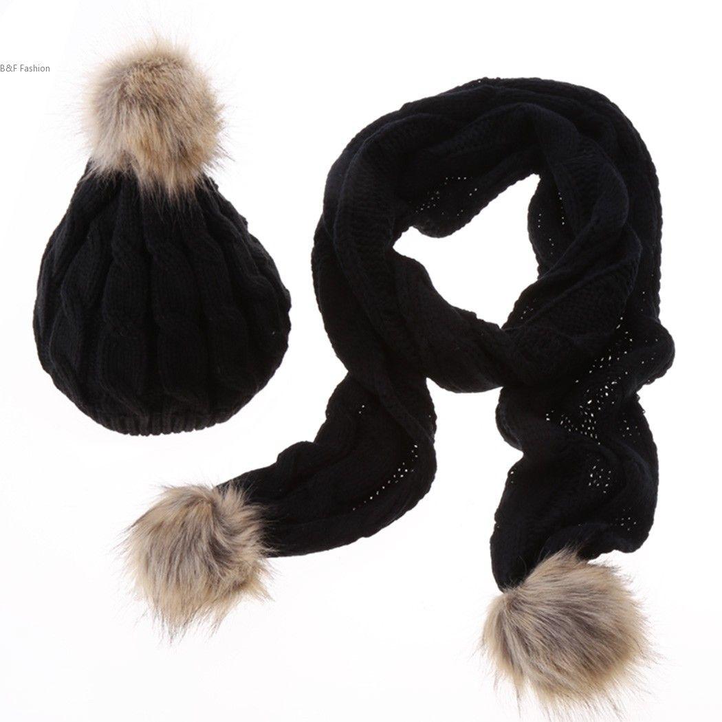 8b278f75a8c Wholesale-Promotions Wool Beanies Cap Scarves Set Winter Autumn ...