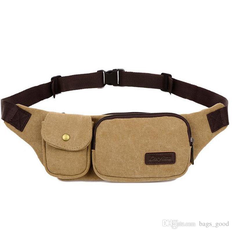 Men Waist Bags Canvas Chest Pack Portable Casual Men Belt Bags Travelling Phone Waist Pack sport Waist Bags