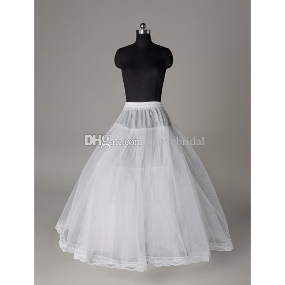 Vintage Spandex Bel Bir Çizgi Hiçbir Hoop Kemik Katmanlar Jüpon Petticoat Balo Düğün Parti Akşam Balo Elbise Etek Kayma Ücretsiz Kargo
