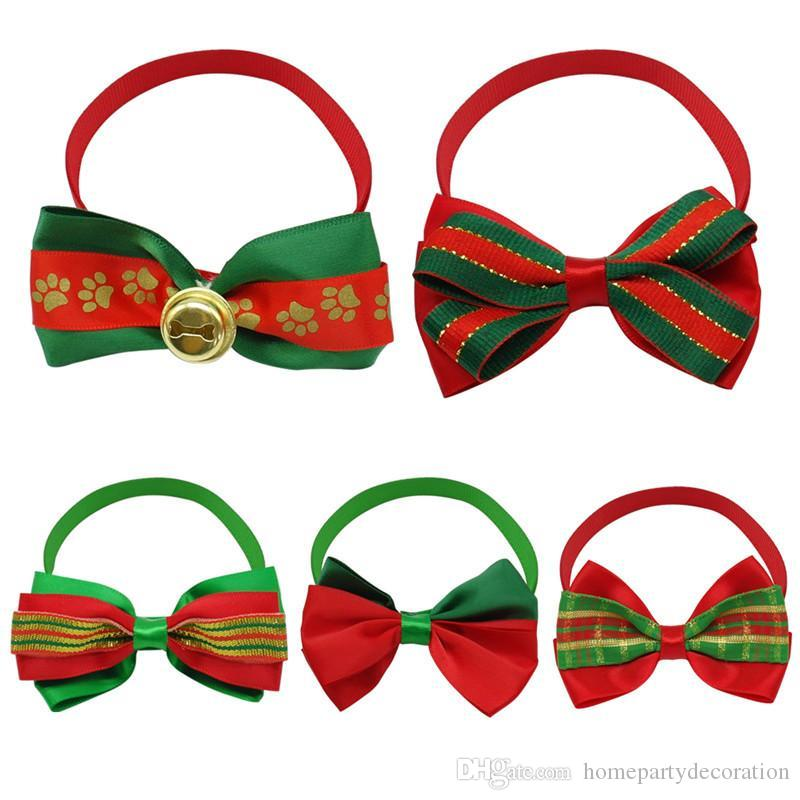 38e99162fe45 2019 New Christmas Pet Dog Bow Ties Cute Neckties Pet Puppy Dog Cat Ties  Accessories Grooming Supplies From Homepartydecoration, $0.54 | DHgate.Com