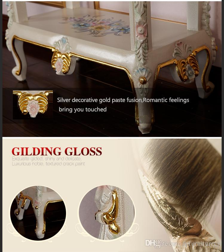 French Royalty classic furniture - baroque handcraft cracking paint cabinet