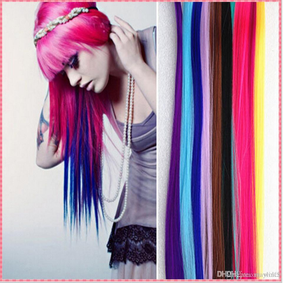 Hairpiece Fashion Hair Extension For Women Long Synthetic Clip In