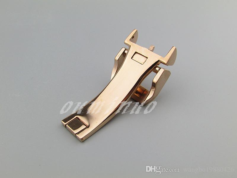 18mm YENİ Yüksek Kalite Paslanmaz çelik saat bantları kayış Gümüş / Siyah / Altın / Gül altın Toka Dağıtım toka İÇİN IWC İzle Bantlar