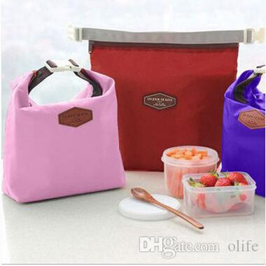 Travel Outdoor Lunch Bag Box Cool Thermal Handbag Food Drinks Ice Packs Isothermic Container Warmer Cooler Carry Picnic Tote Bags DHL
