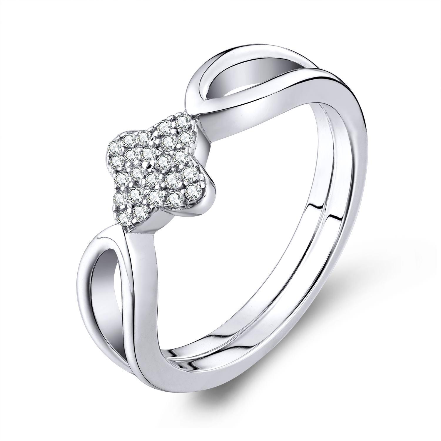 Trendy Style Wholesale Fashion Rings Real 925 Sterling Silver Finger