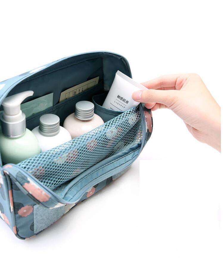 Sac à cosmétiques trousse de maquillage Articles de toilette de voyage porte-sac à main Beauté portative de lavage sac à dos organisateur avec crochet