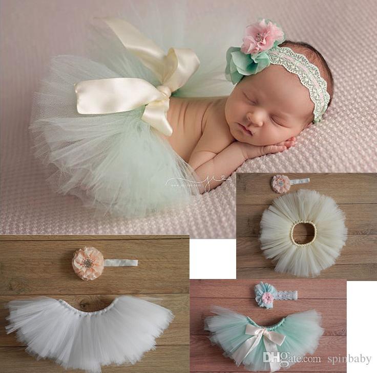 2016 Flower Newborn Baby Tutu Skirt And Matching Headband Set Fluffy Baby Girl Bow Tutu Skirt ...