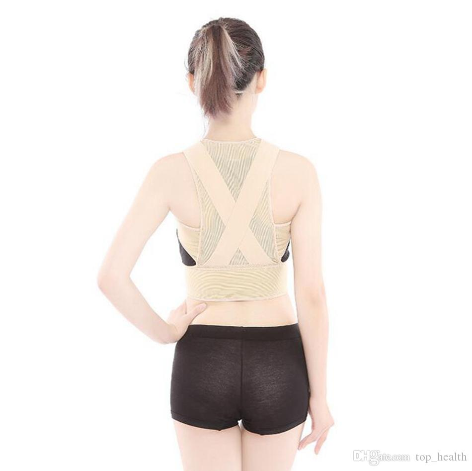 ce13a8baec Back Posture Corrector Brace Women Humpback Shoulder Support Therapy  Correction Belt Health Care Body Underwear Shaper Corset LJJO2696 Back Brace  For ...