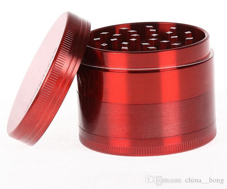 Crusher di cromo Metallo smerigliatrice 4 strati Dia 40/50/55/63 / 75mm rilevatore di fumo rettifica macchina fumo di sigaretta tabacco a base di erbe denti cnc filtro