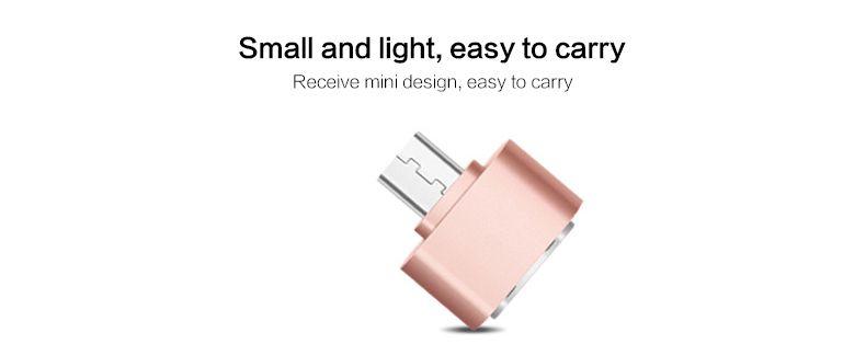 100 unids / lote Mini Micro USB 5 pines a puerto USB USB Adaptador de sincronización de datos OTG para teléfono inteligente, teléfono móvil, pestaña para teléfono inteligente U-Disk