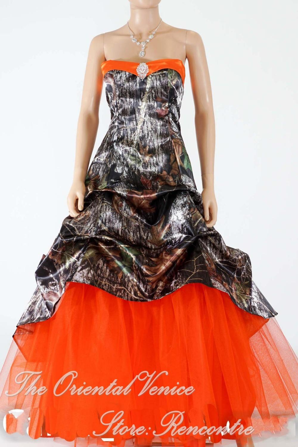 Discount hunter orange camo wedding dress 2016 new realtree discount hunter orange camo wedding dress 2016 new realtree camouflage wedding gowns lace up back bridal dresses with tull train vestidso de novia discount ombrellifo Image collections