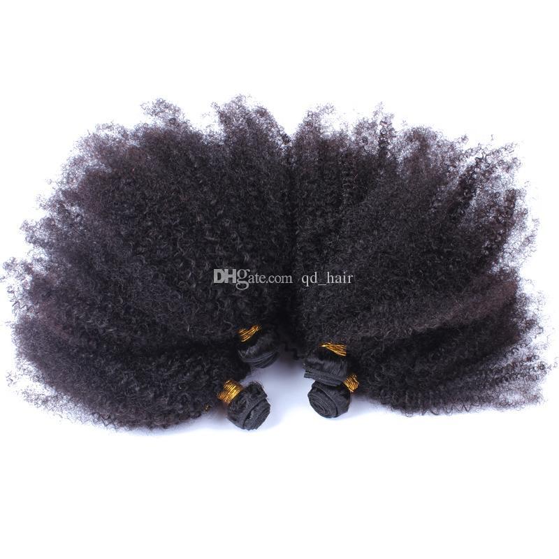 Горячий продавать бразильский 9а афро кудрявый вьющиеся человеческие волосы пучки необработанные кудрявый вьющиеся волосы плетет 4 пучки много для черная женщина
