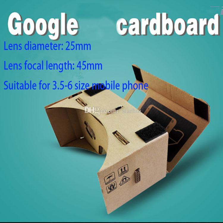 Google Cartbo 3D Glass 3D DIY Teléfono Móvil Realidad virtual Vidrios 3D Cartón no oficial Cartulina Google Cartón VR Toolkit 3D Glasses WX-G10