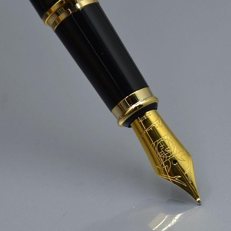 qualité supérieure Picasso fontaine en métal noir mode papeterie de bureau scolaire stylo promotion écriture stylos à encre cadeaux