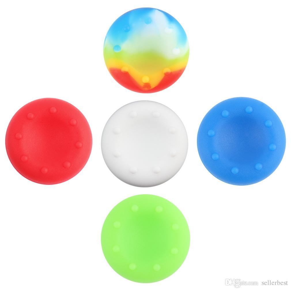 Universale 8 punti in silicone tappo in silicone copertura della cassa caso pelle joystick thumb stick grip grip ps4 ps3 xbox xbox 360 one controller