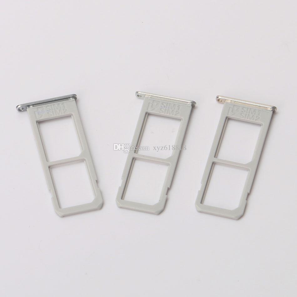 Origine Nouveau Double Plateau Double Carte SIM Pour Samsung Galaxy S6 Edge Plus G9280 G928F VS G928T G928A G928V Porte-carte SIM