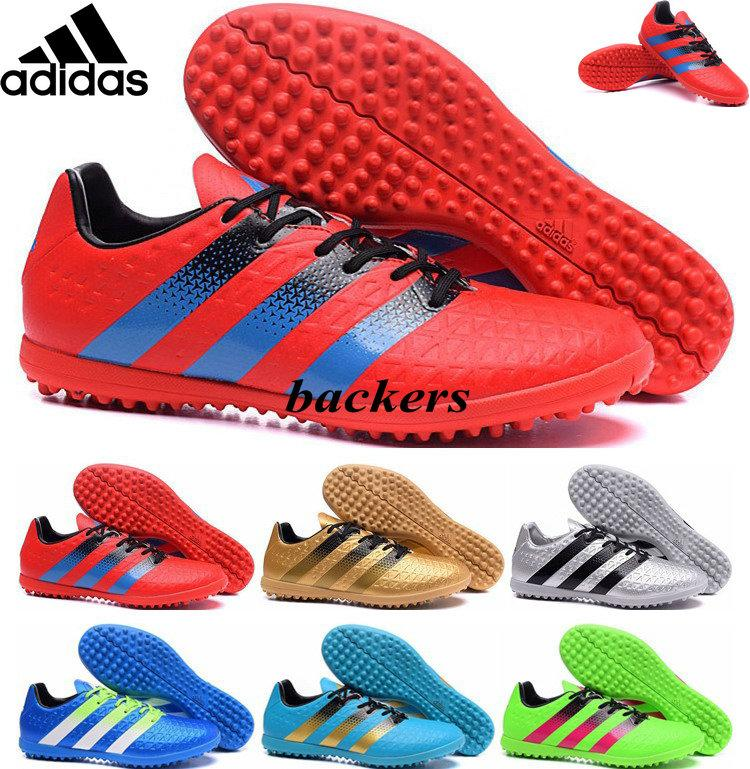 best service 9152e 9887c 2019 Originals Adidas ACE 16.3 TF Soccer Shoes Football Boots Indoor Mens  Cheap High Quality 2016 UEFA Euro Athletic Sneakers Gold Red Free Ship From  ...
