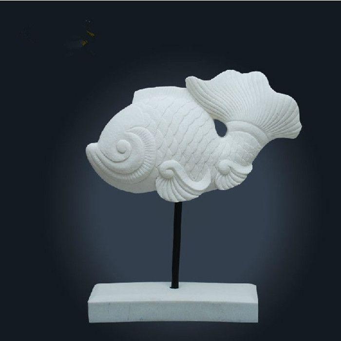 Compre Estatua De Pez Afortunado Escultura Animal Escultura Moderna - Escultura-decorativa