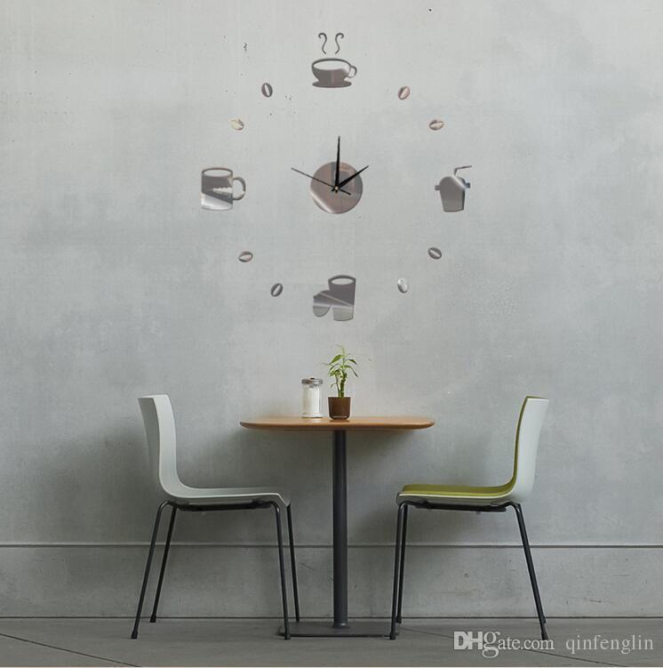 Kitchen Wall Sticker Coffee Cup With Heart Kitchen Vinyl Wall Art ...