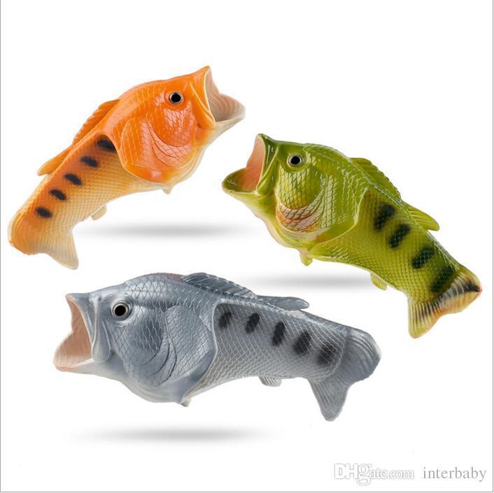 Grosshandel Fisch Hausschuhe Familie Fisch Sandalen Kreative Bling