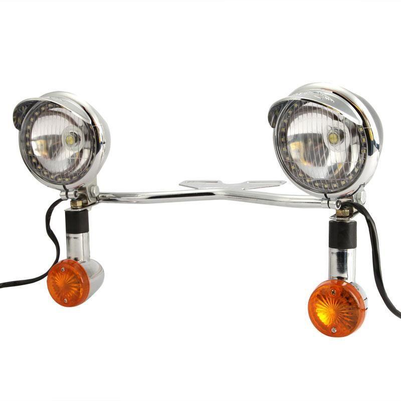 2018 universal custom motorcycle headlight spot fog light bar kit 2018 universal custom motorcycle headlight spot fog light bar kit amber turn signals lamp led driving light for harley davidson honda from ruxian audiocablefo