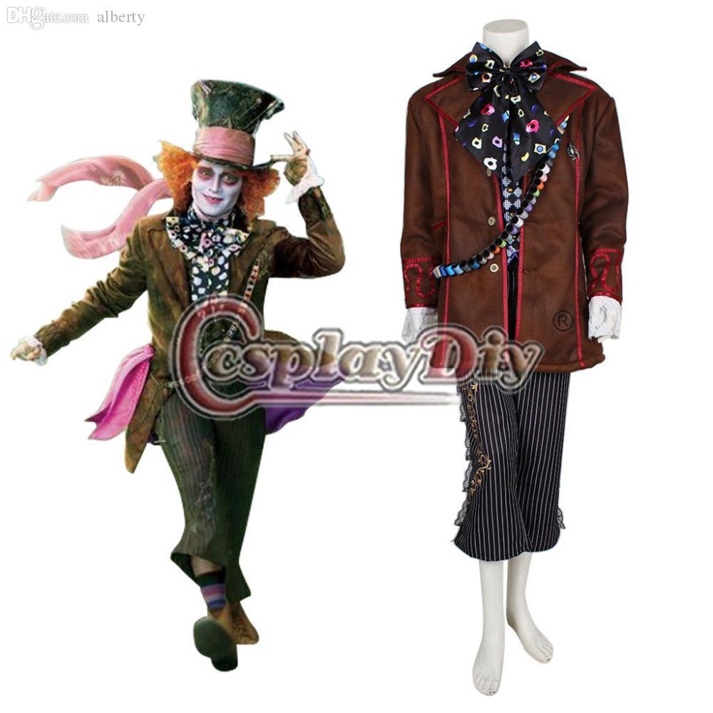Wholesale Alice In Wonderland Johnny Depp Mad Hatter Jacket Costume