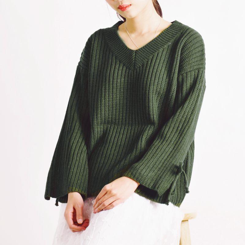 Maglione lavorato a maglia casuale allentato casuale di stile della ragazza di Harajuku Mori del giapponese 2017 maglione del rivestimento superiore del maglione delle donne di autunno
