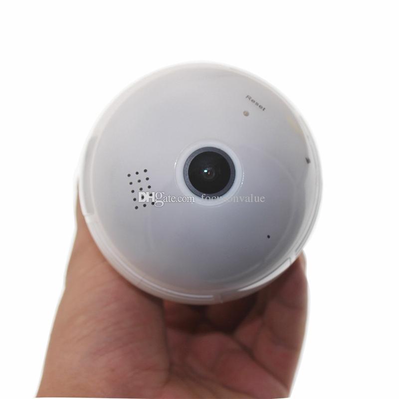 360 درجة لاسلكية لمبة IP كاميرا بانورامية لمبة ضوء FishEye الكاميرا HD 960p الأمن الرئيسية CCTV كاميرا مراقبة الطفل