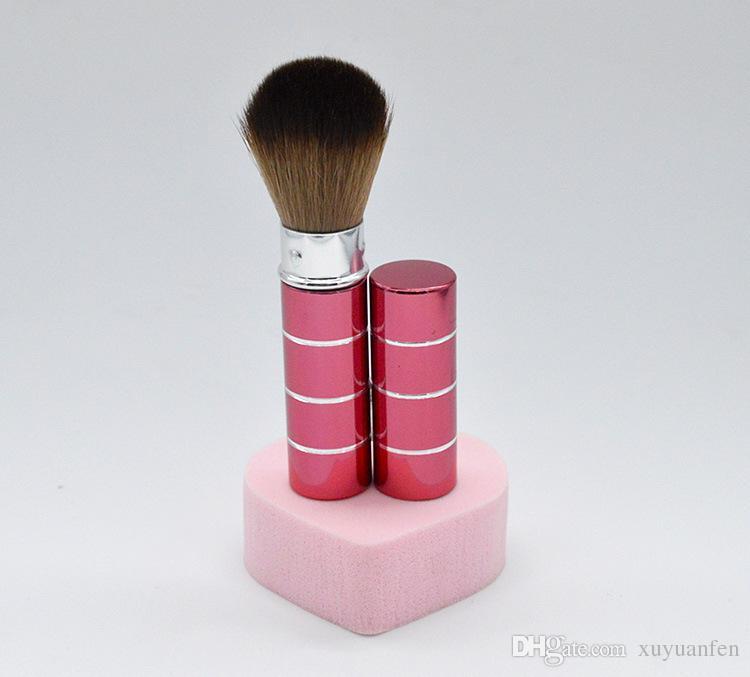 2016 Hot New Design 1 Unids MIni Soft Makeup blusher Brush Retráctil Pro Foundation Cosmético Blusher Face Powder Brushes Herramientas de Belleza