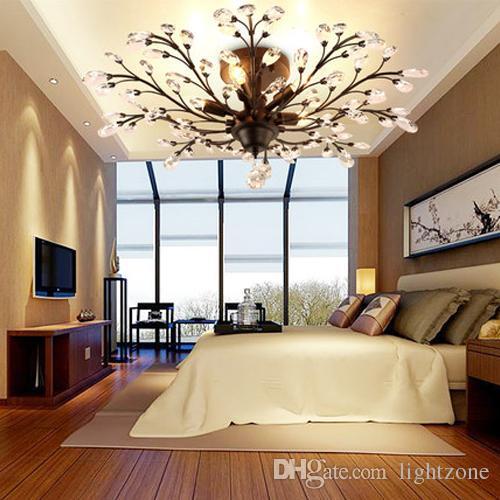 Großhandel Kronleuchter LED Leuchten Kristall Vintage American Kronleuchter  Beleuchtung Deckenleuchten Für Wohnzimmer Veranda Restaurant Wohnzimmer  Hotelbar ...
