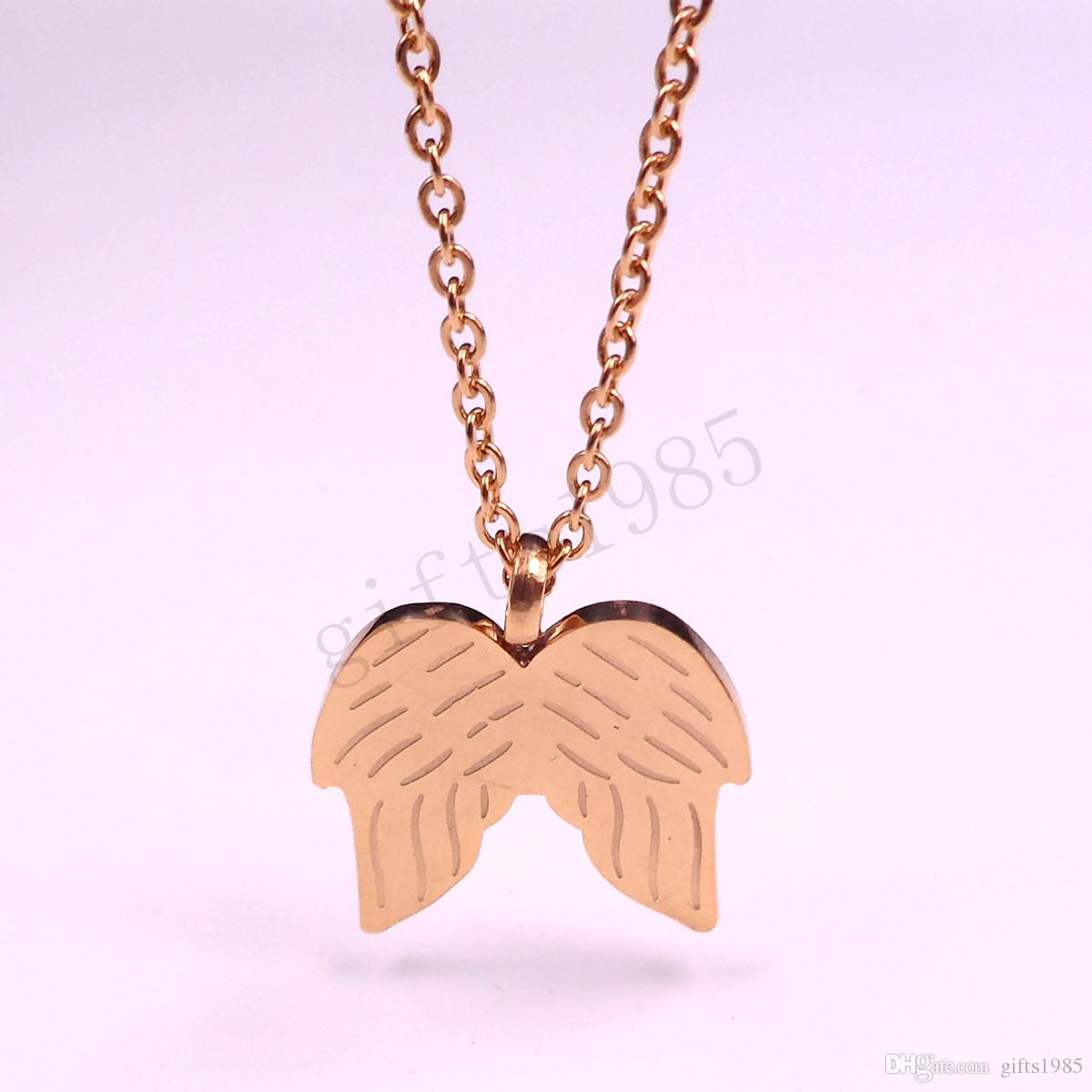 cubic htm wings cz angel pendant necklace fashion zirconia silver tone