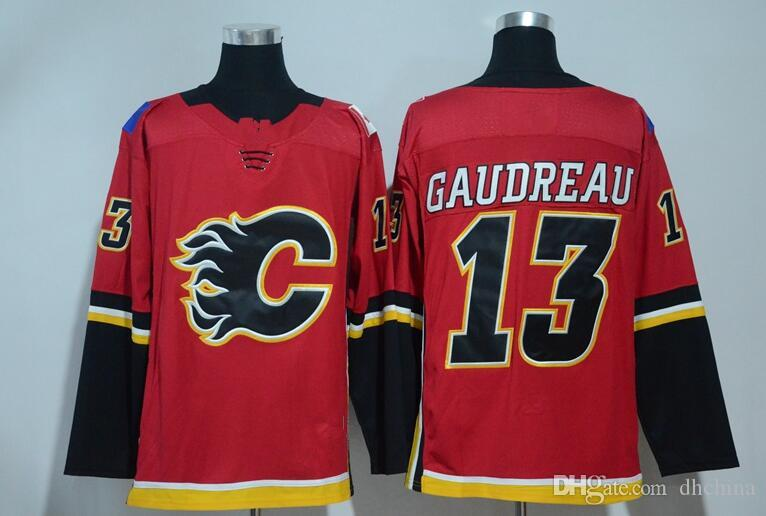 new arrival 87401 c20f4 New Calgary Flames #13 Johnny Gaudreau Jersey 2017 New Brand Hockey Jerseys  Red Color Size 48-56 Mix Order High Quality All Jerseys