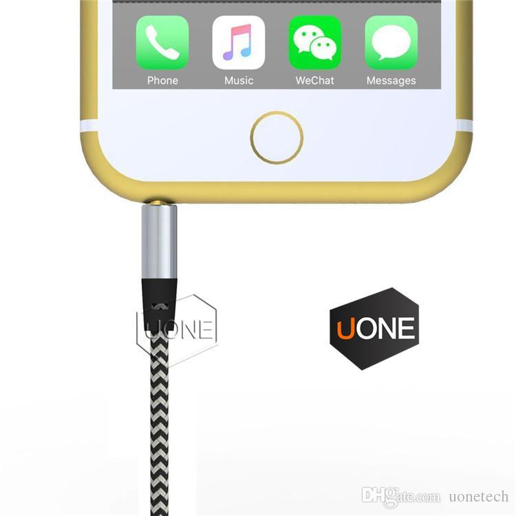 Cabo De Extensão De Áudio do carro AUX Nylon Trançado 3 m 1 M fio Auxiliar Estéreo Jack de 3.5mm de Chumbo Masculino para a Apple e Andrio Telefone Móvel Speaker