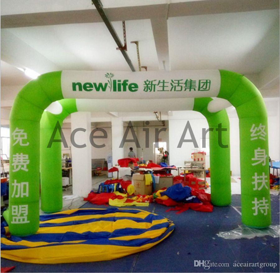 libero stampare la tenda dell'arco gonfiabile di alta qualità di logo di pubblicità la vendita con l'aeratore di aria libera