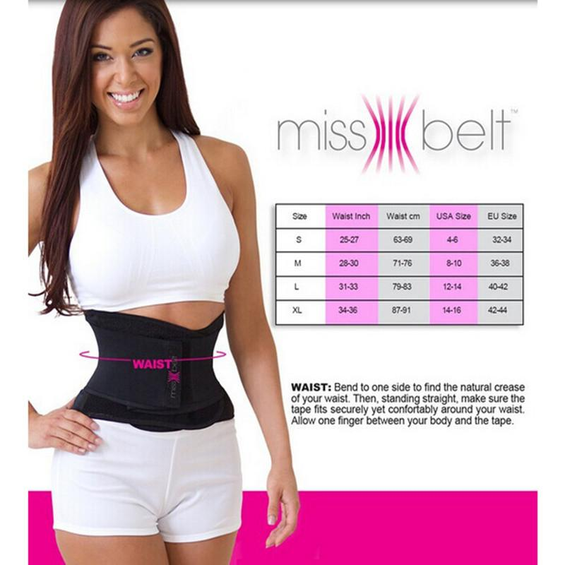 35c8c601399 Wholesale-2016 Newest Miss Belt Slimming Shaper Sports Waist Tummy ...