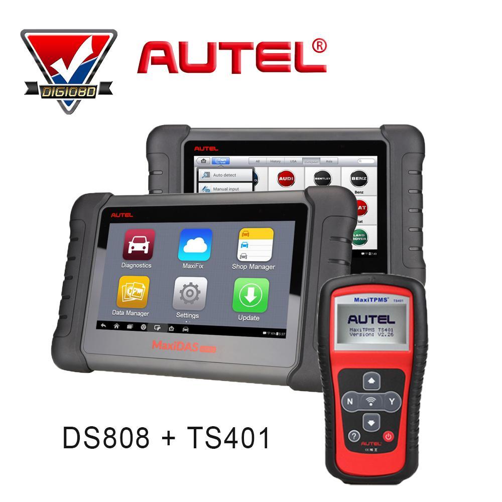 Autel Maxidas Ds808 + Maxitpms Ts401 Automotive Diagnostic ...