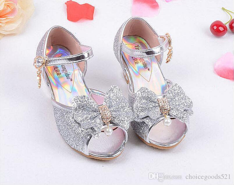 5a58b7e72e44 Fashion Girl Shoes Children Princess Sandals Kids Girls Wedding Shoes High  Heels Dress Shoes Party Sandals For Girls Toddler Girl Shoes Size 8 Cheap  ...