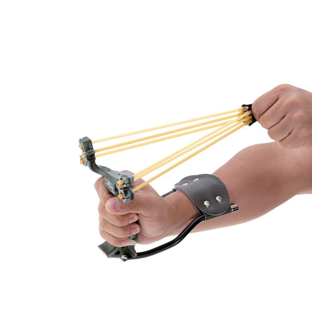 새로운 Slingshot 성인 2 고무 밴드 강력한 Slingshot 접히는 손목 위장의 사냥 Slingshot 야외 게임을위한 투석기