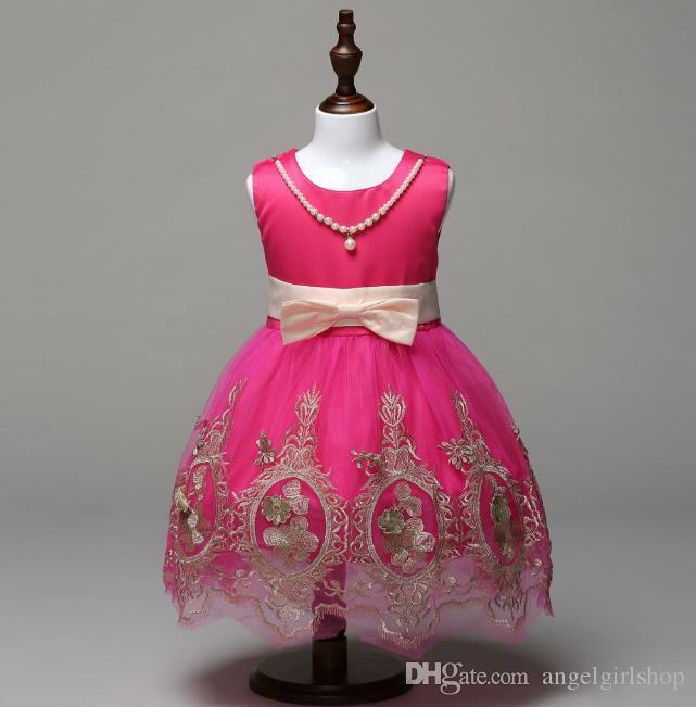 76efd6f39c94b Acheter Robes De Fille Enfant Robe De Tulle Rouge Bébé Fille Robes De  Soirée De Mariage Enfants Costume De Fleur Vêtements Pour Adolescents De   53.05 Du ...