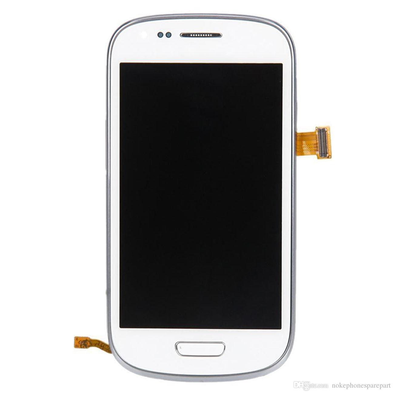 Samsung Galaxy S3 mini i8190 Beyaz Için LCD Dokunmatik Ekran Digitizer