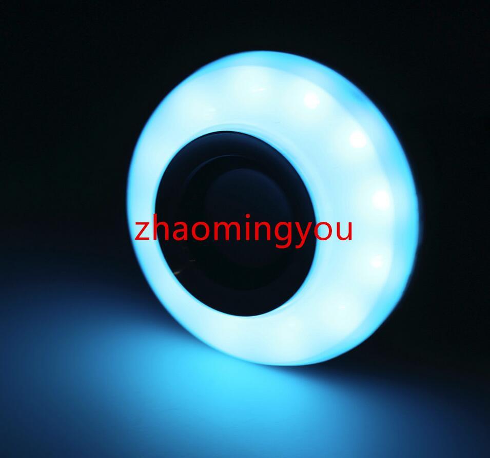 Беспроводной E27 12W Bluetooth Пульт Дистанционного Управления Мини Smart LED Аудио Динамик RGB Цвет Света Теплая Лампа Музыка Лампы