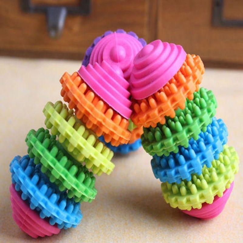 Chien Jouets à mâcher Indestructible Chien Jouet En Gros Coloré Caoutchouc Pet Chien Dentaire Dentition Dents Saines Gencives Chew Toy