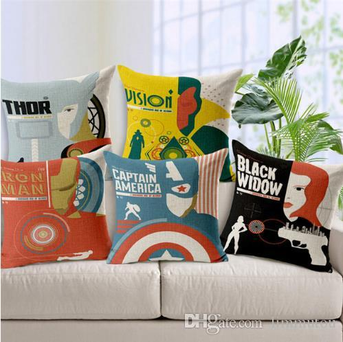super heroes cushions home decor the avengers decorative pillow Couch Pillows Online